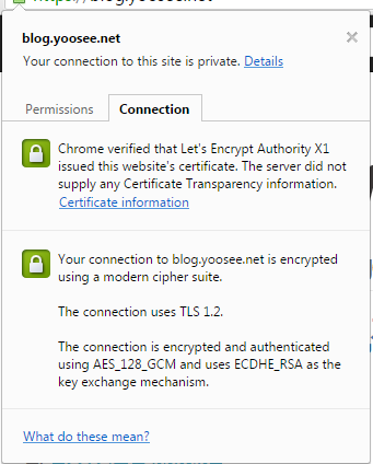 SSL in blog.yoosee.net