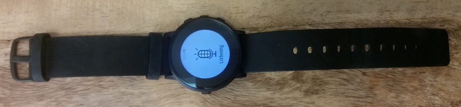 Pebble and Snowy listening voice command