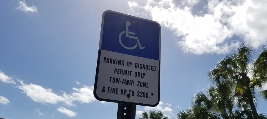 Parking by Disabled Sign